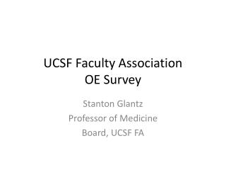 UCSF Faculty Association OE Survey