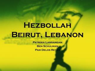 Hezbollah Beirut, Lebanon