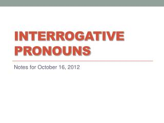 PPT - Interrogative Sentences (Questions) PowerPoint ...