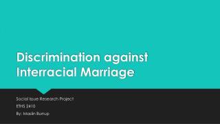 Discrimination against Interracial Marriage