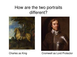 How are the two portraits different?