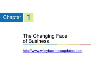The Changing Face  of Business wileybusinessupdates