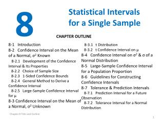 Statistical Intervals for a Single Sample
