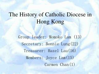 The History of Catholic Diocese in Hong Kong