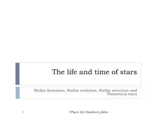 The life and time of stars