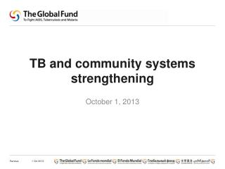 TB and  community systems strengthening