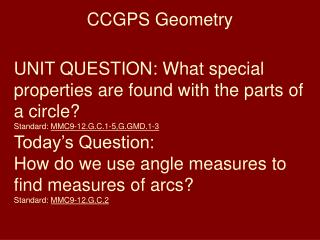 CCGPS Geometry