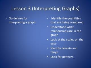 Lesson 3 (Interpreting Graphs)