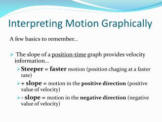 Interpreting Motion Graphically