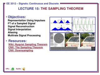 LECTURE  15:  THE SAMPLING THEOREM