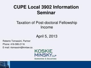CUPE Local 3902 Information Seminar