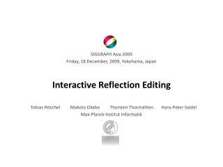 Interactive  Reflection Editing