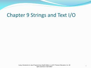 Chapter 9 Strings and Text I/O