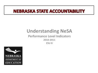 Understanding  NeSA Performance Level Indicators 2010-2011 ESU  8