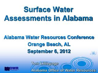Surface Water Assessments in Alabama