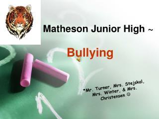~ Matheson Junior High ~