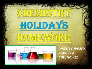 Chemistry Holidays Homework