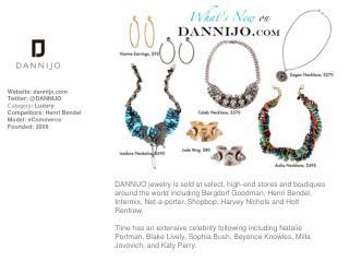 Website:  dannijo Twitter: @DANNIJO Category : Luxury Competitors: Henri Bendel