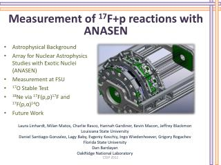Measurement of  17 F+p reactions with ANASEN