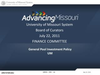 General  Pool Investment  Policy UM