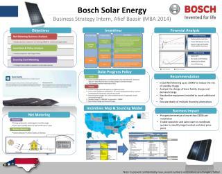 Bosch Solar Energy Business Strategy Intern, Afief Baasir (MBA 2014)
