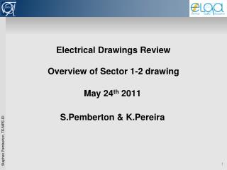 Electrical Drawings Review Overview of Sector 1-2 drawing