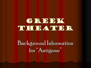 GREEK THEATER