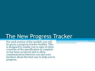 The New Progress Tracker