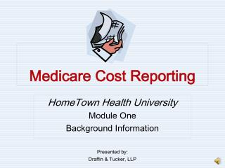 Medicare Cost Reporting