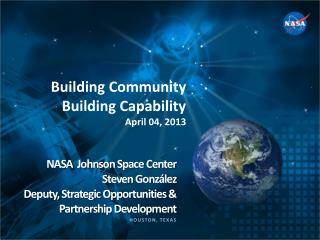 NASA   Johnson  Space  Center Steven  González
