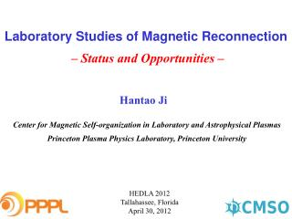 Laboratory Studies of Magnetic Reconnection –  Status and Opportunities  –