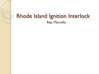 Rhode Island Ignition Interlock