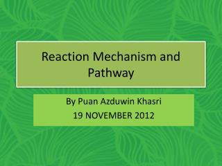 Reaction Mechanism and Pathway