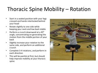 Thoracic Spine Mobility – Rotation