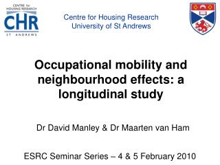 Occupational mobility and neighbourhood effects: a longitudinal study