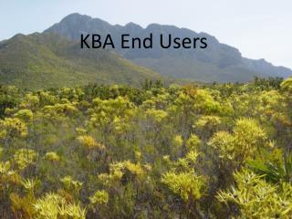 KBA End Users
