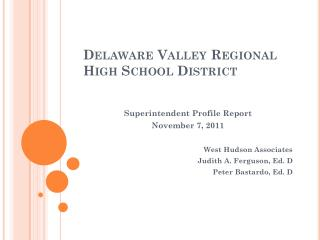 Delaware Valley Regional  High School District