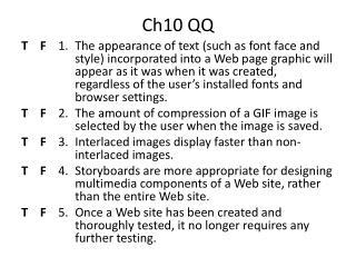 Ch10 QQ