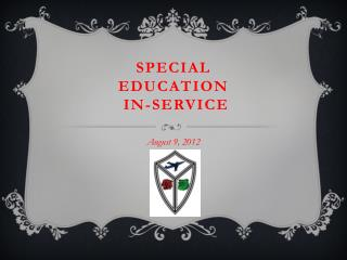 Special Education  In-service