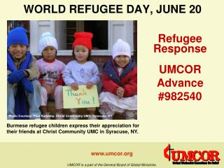 WORLD REFUGEE DAY, JUNE 20