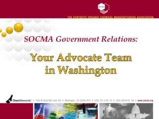 SOCMA Government Relations:
