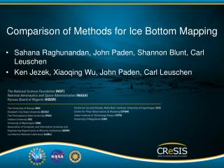 Comparison of  Methods for Ice Bottom Mapping