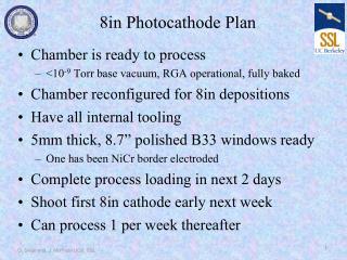 8in Photocathode Plan