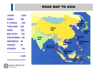 ROAD MAP TO ASIA