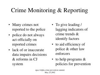 Crime Monitoring & Reporting