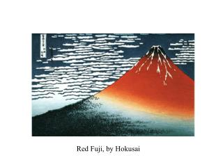 Red Fuji, by Hokusai
