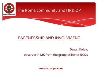The Roma community and HRD OP
