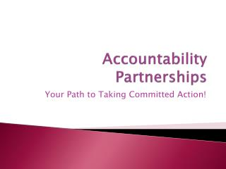 Accountability Partnerships