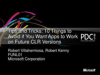 Tips and Tricks: 10 Things to Avoid if You Want Apps to Work on Future CLR Versions