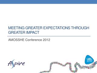 Meeting greater expectations through greater impact